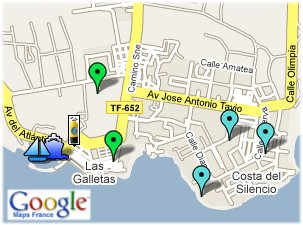 Discover las galletas with google maps